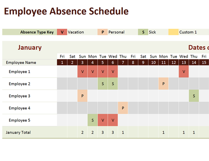 70+ Free Schedule & Planner Templates [ Word, Excel Time Off Calendar In Excel