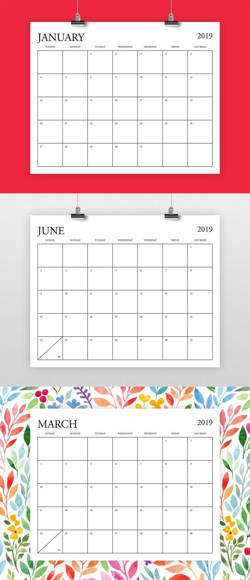 8.5 X 11 Calendar Template   Example Calendar Printable 8.5 X 11 Printer Friendly Calendar