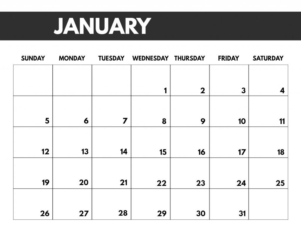 8.5 X 11 Printable Calendars – Calendar Template 2020 8.5 X 11 Printer Friendly Calendar