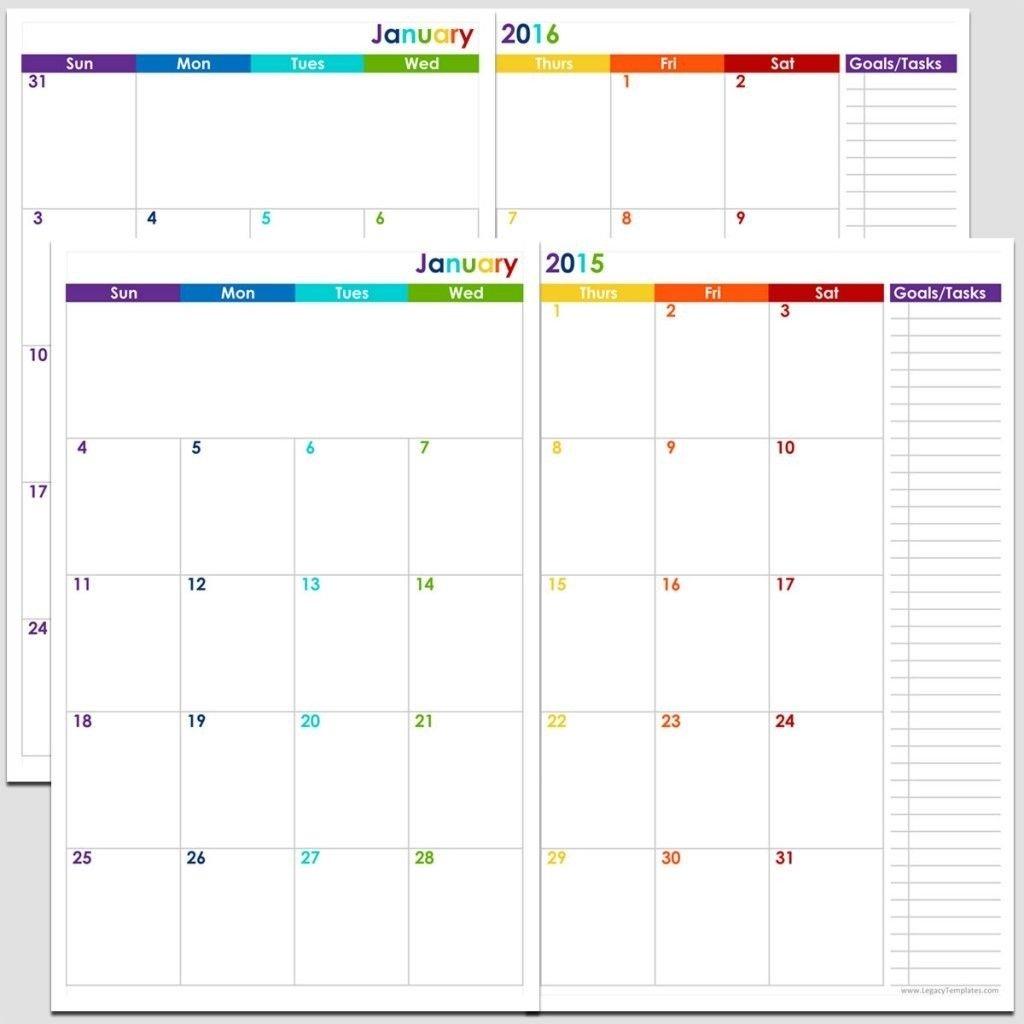8.5 X 14 Monthly Calendar | Calendar Template Printable Free Printable Calendars 5 1/2 X 8 1/2
