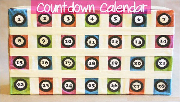 8+ Countdown Calendar Template – Free Sample, Example 30 Day Shred Countdown Printable Free