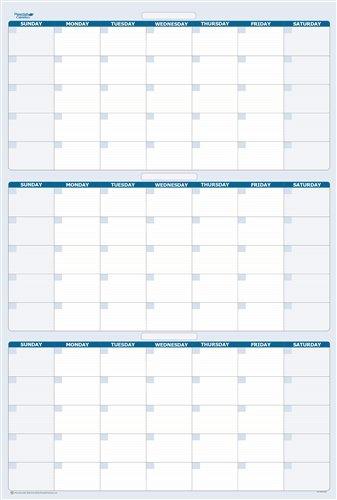 "90 Day 3 Month Dry Erasable Wall Calendar 24"" X 38"" 90 Day Meds Calendar"