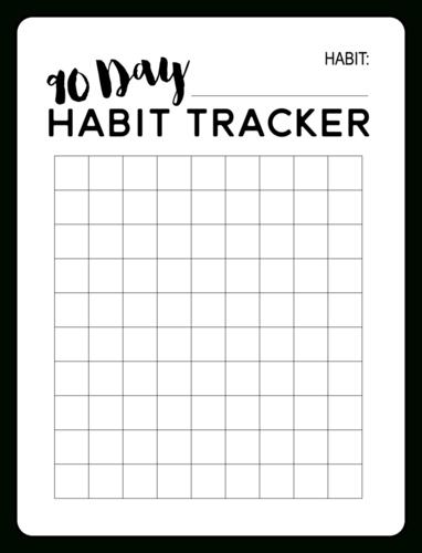 90 Day Habit Tracker Planner Label – Onlinelabels 90 Day Meds Calendar