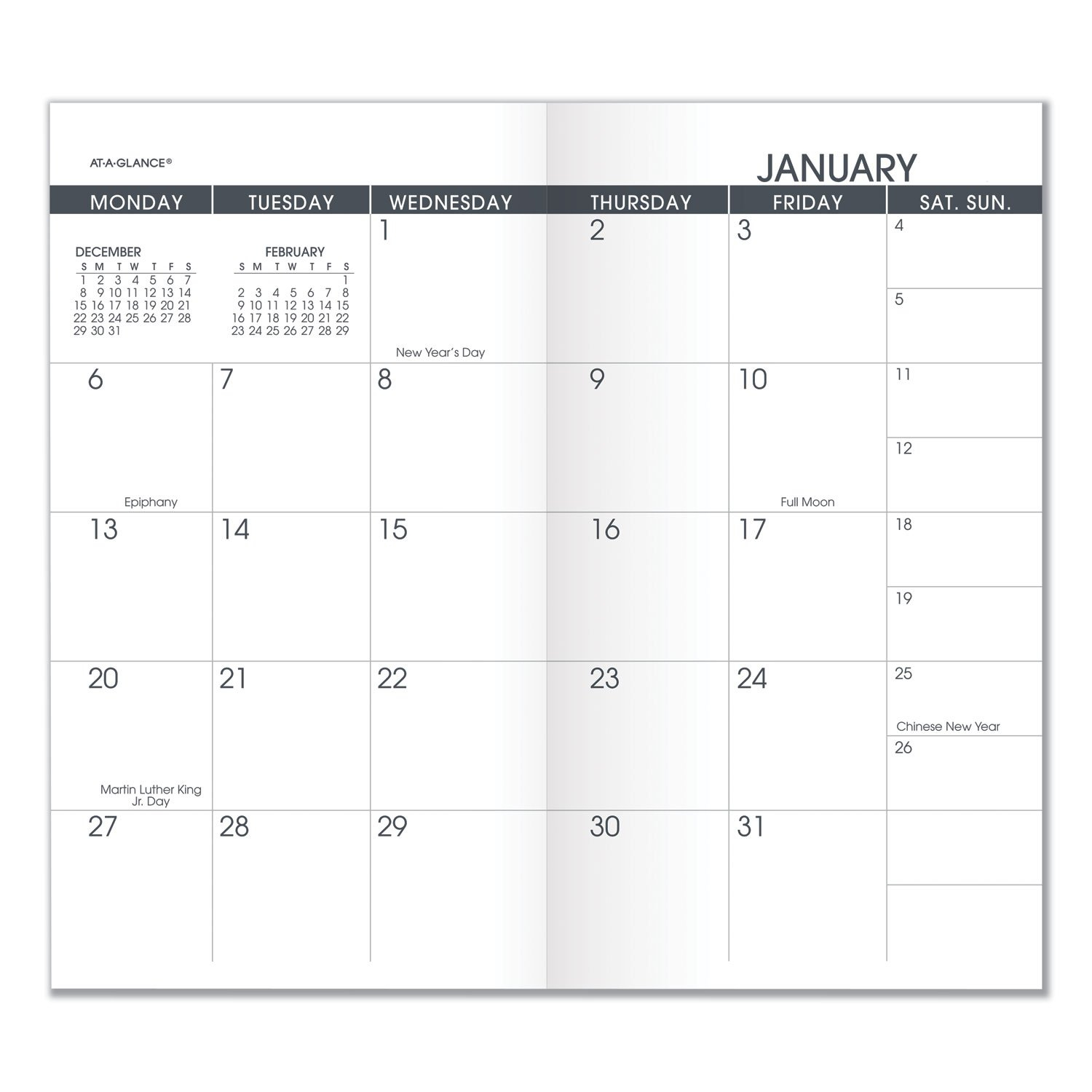 Aag7090610 At A Glance Pocket Size Monthly Planner Refill Free Printable Calendars 5 1/2 X 8 1/2