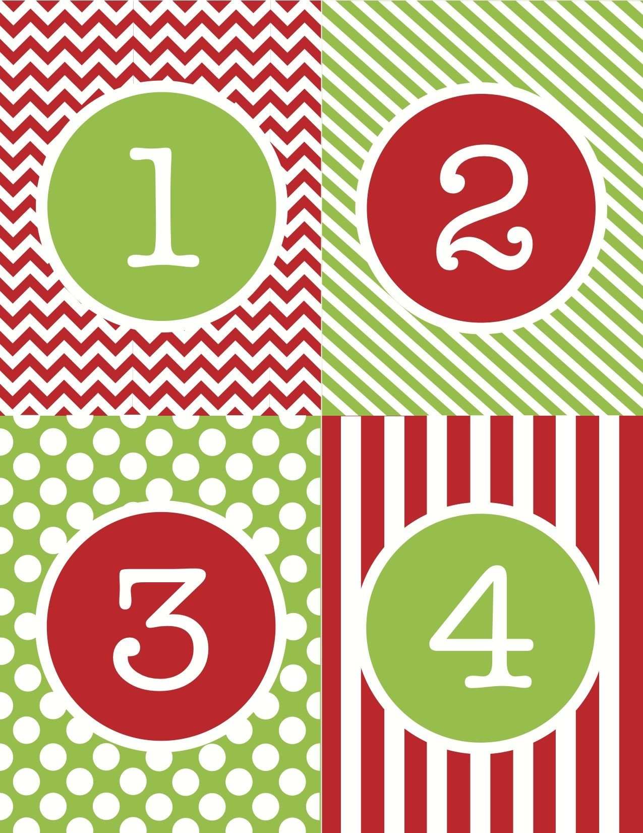 Advent Calendar Numbers Printable – Google Search Print Numbers 1 To 31