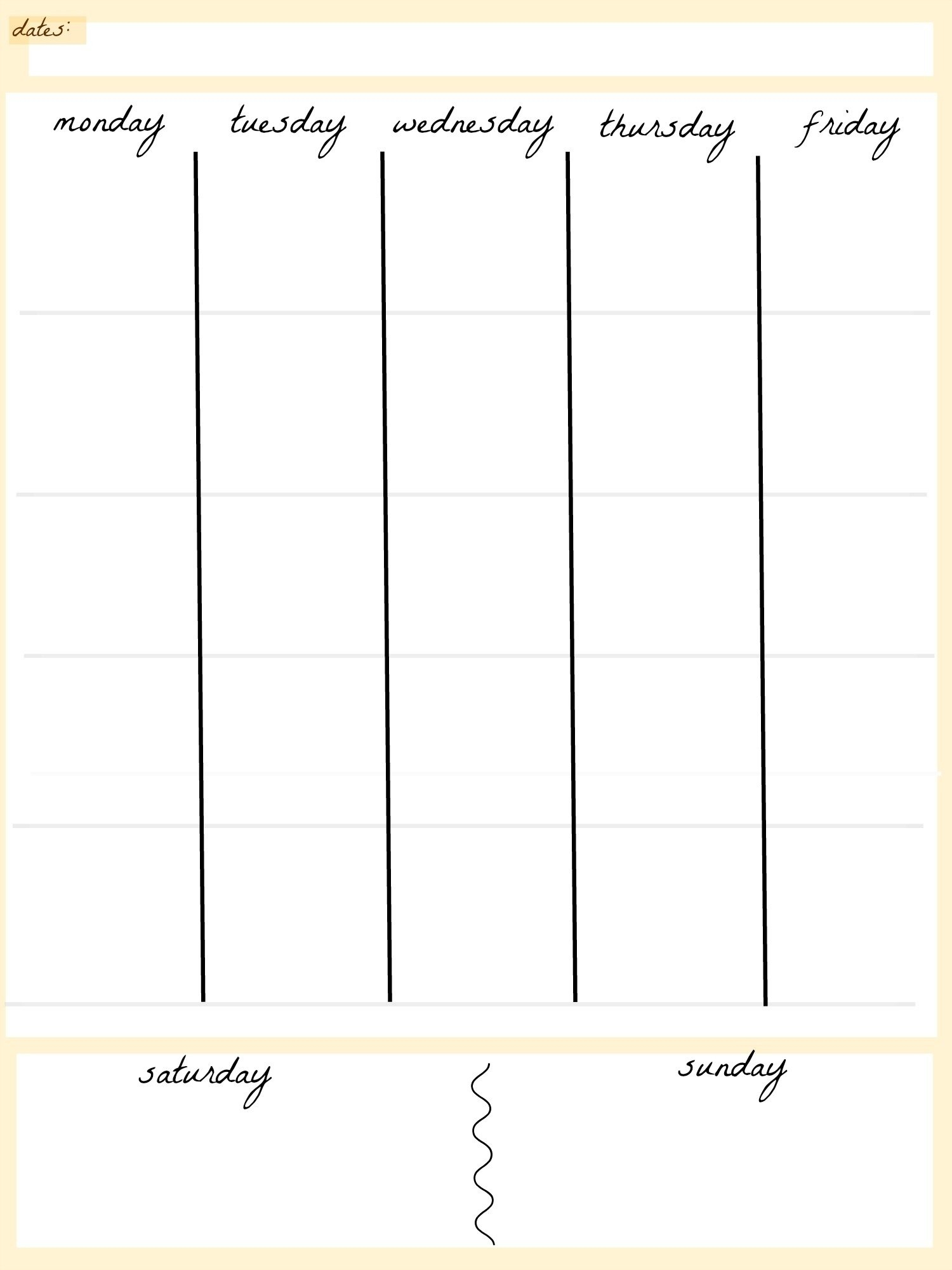 April 2019 – Page 2 – Template Calendar Design Blank Template For Two Week Calendar