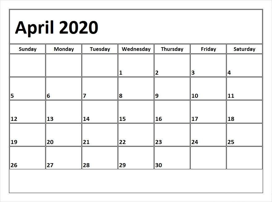 April 2020 Printable Calendar – Free Download Monthly   12 Free 12 Month Calendar Template For Expiry Dates