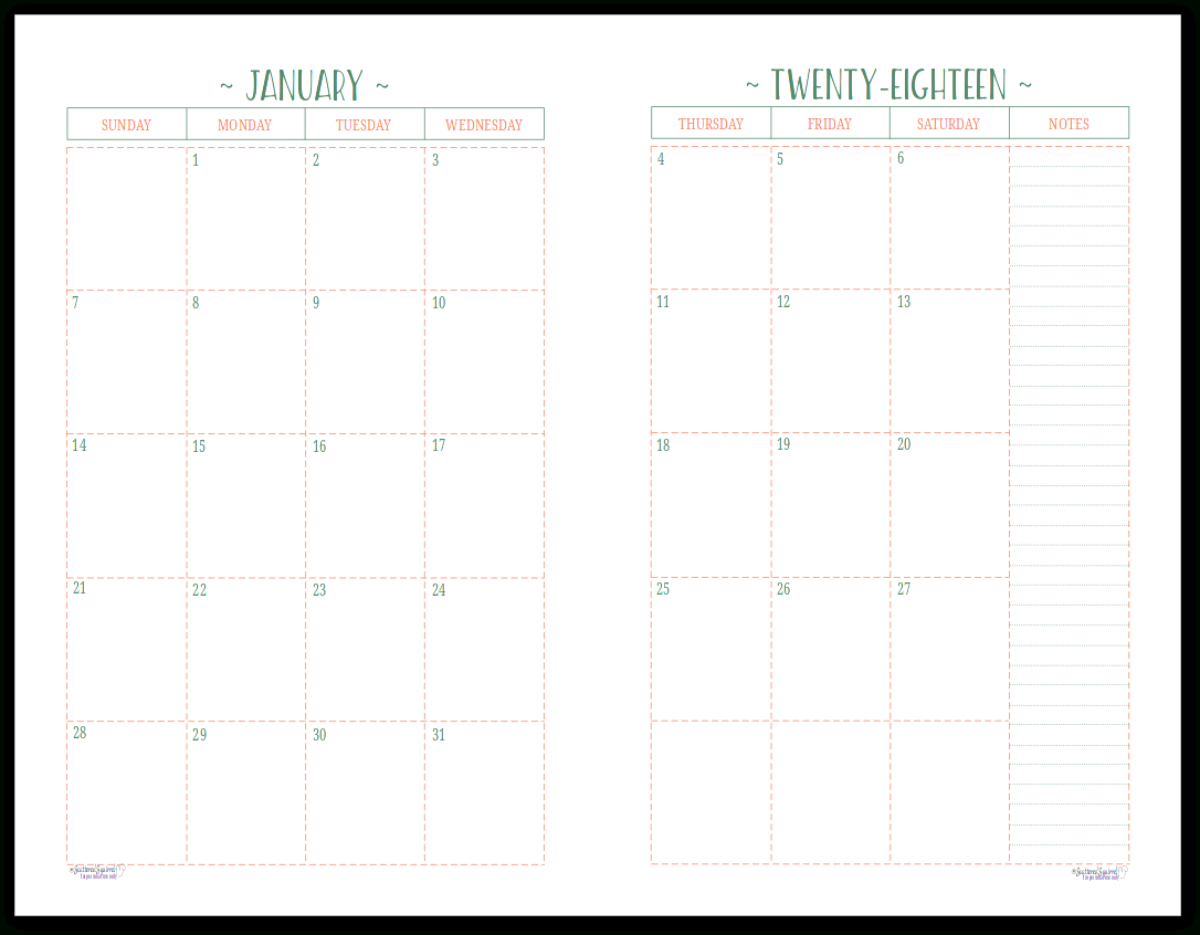 At A Glance Lined Monthly Calendar Printable | Example Lined Monthly Calendar Free