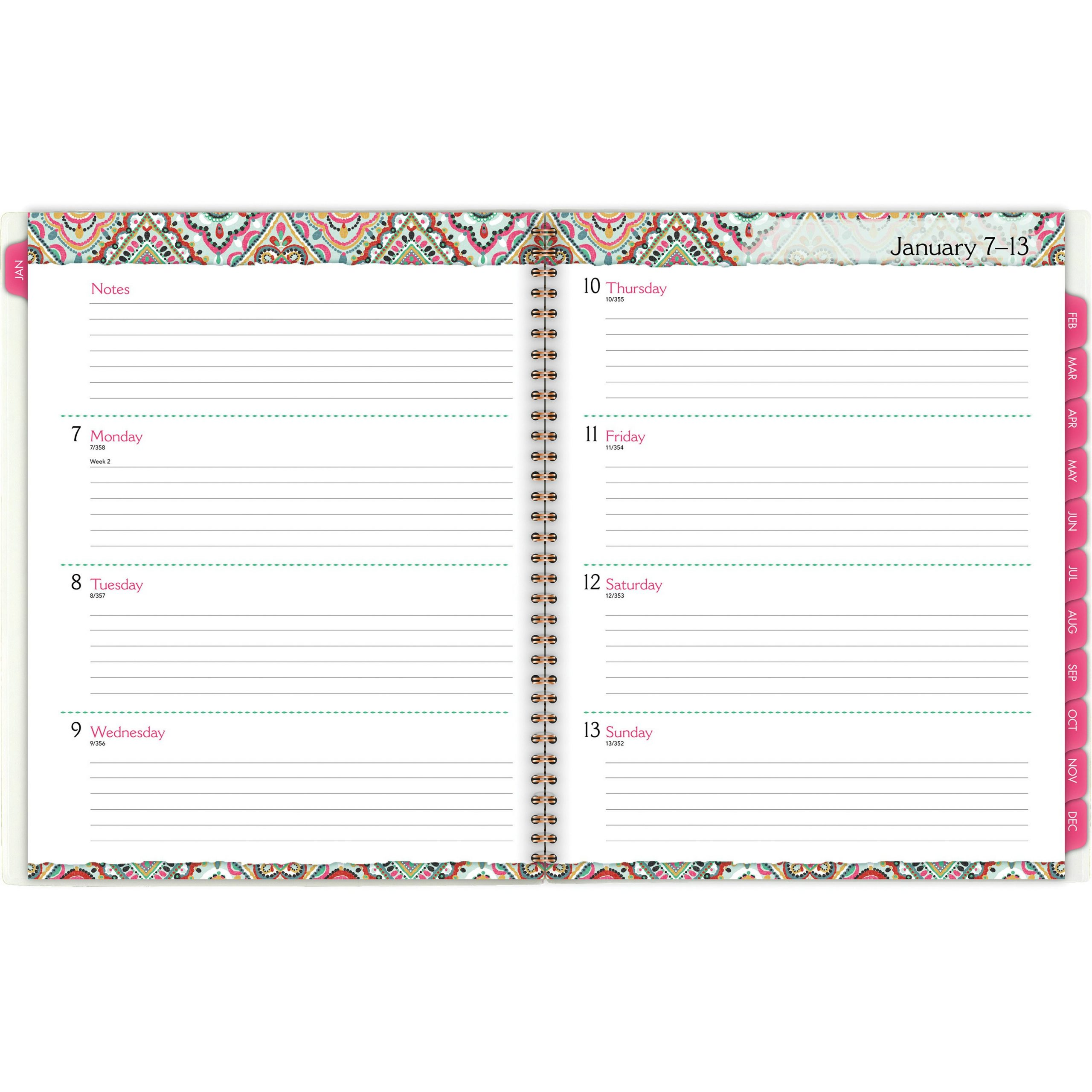 At A Glance Marrakesh Weekly Monthly Planner – Yes 8 1/2 11 Dayplanner Calendar