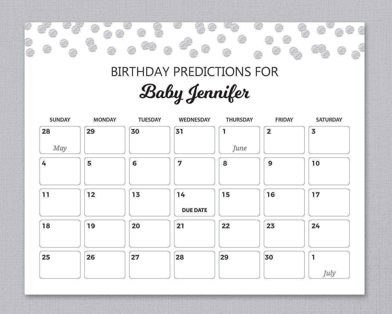 Baby Due Date Calendar | Calendar Template 2020 Pick The Due Date Calendar Template Free