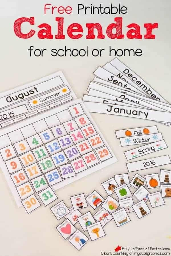 Back To School: Free Printables For Teachers | Classroom Free School Calendars For Teachers