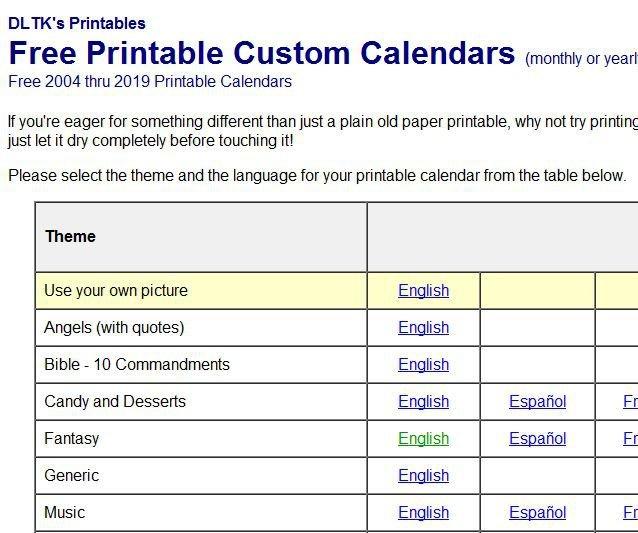 Basic Calendars And Calendar Creation Tools Custom Date Range Calendar