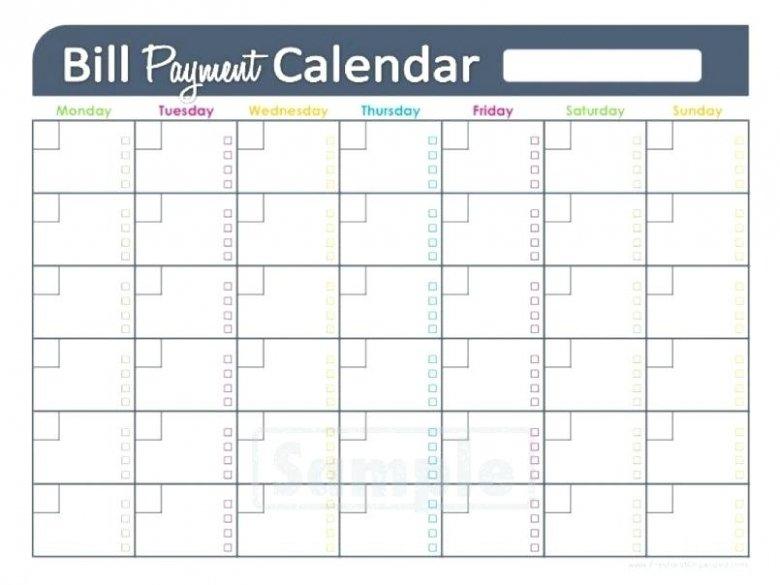 Bill Pay Calendar Printable : Free Calendar Template Netspend Ssi Deposit Schedule