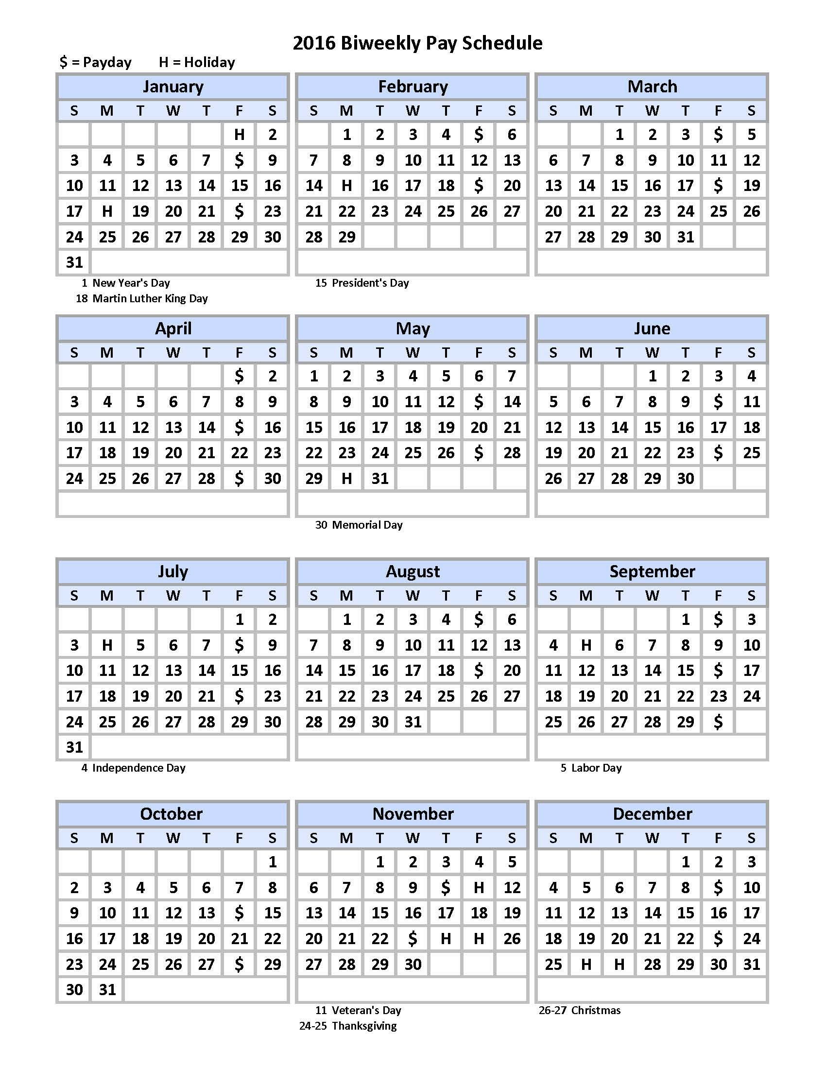 Biweekly Payroll Schedule Calendar Template – Pdf Format Example Of Editable Payroll Calendar