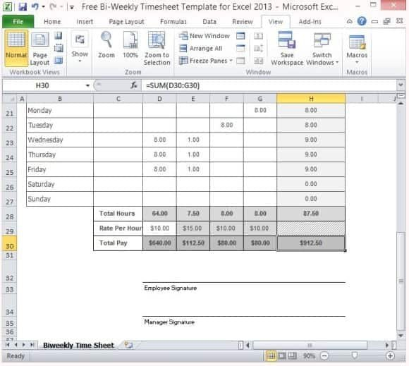 Biweekly Time Sheets With Sick Leave & Vacation – Word Free Sick Leave Calendar Printable