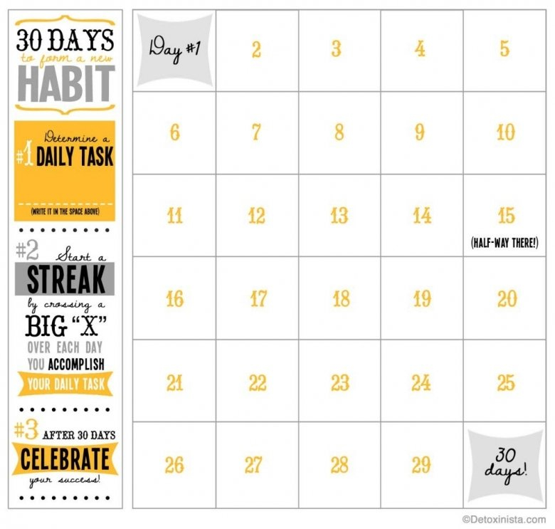 Blank 30 Day Calendar Printable : Free Calendar Template 30 Day Printable Schedule