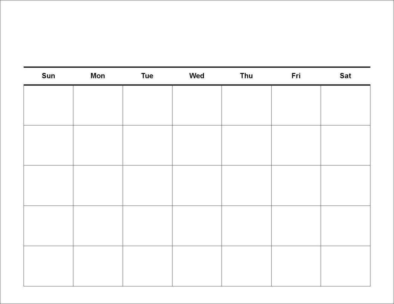 Blank 7 Day Calendar To Print – Calendar Inspiration Design Calendar Template For 7 Days