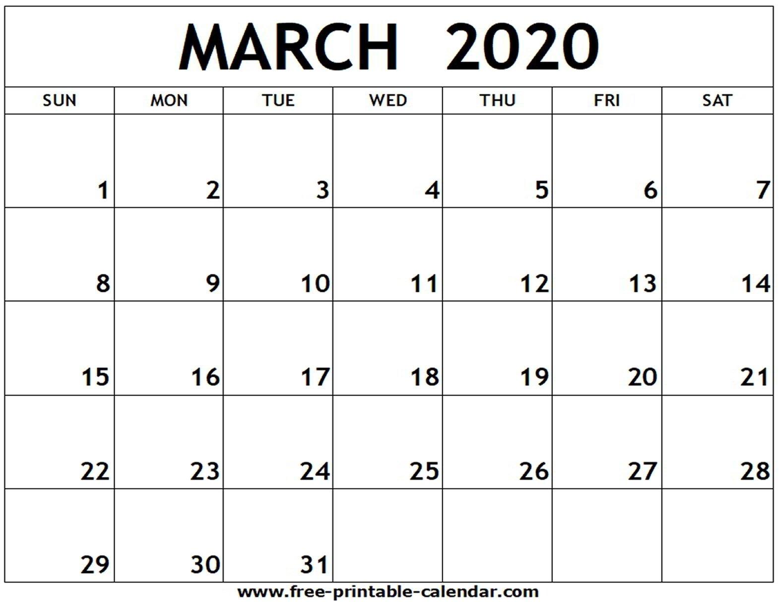 Blank Calander 2020 Fill In – Calendar Inspiration Design Free Printable Fill In Calendars