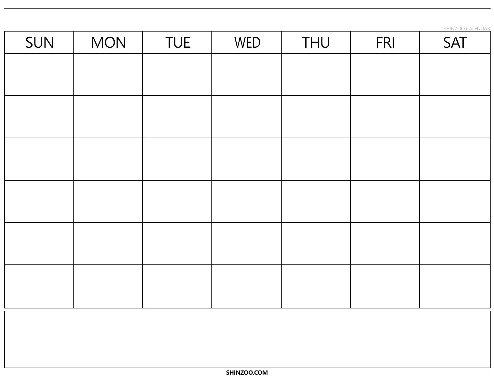 Blank Calendar 2019 2020 To Fill In – Calendar Inspiration Calendar Fill In Template