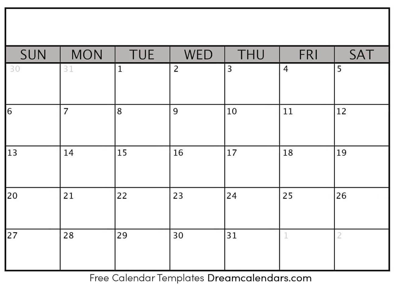 Blank Calendar 2020 To Fill In | Calendar Template Printable Calendar To Fill In And Print