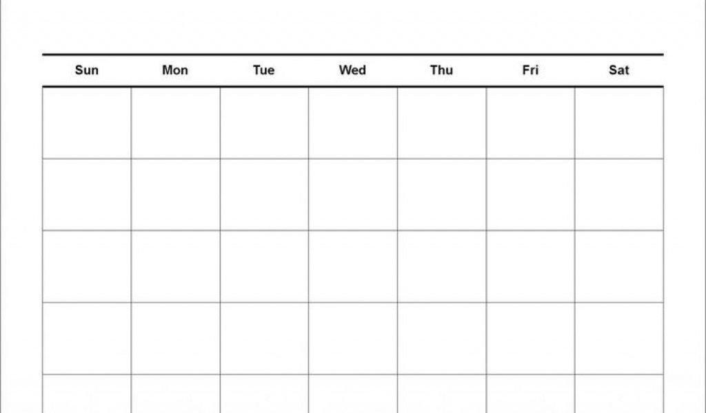 Blank Calendar 4 Weeks   Working Calendar Blank 4 Week Calendar