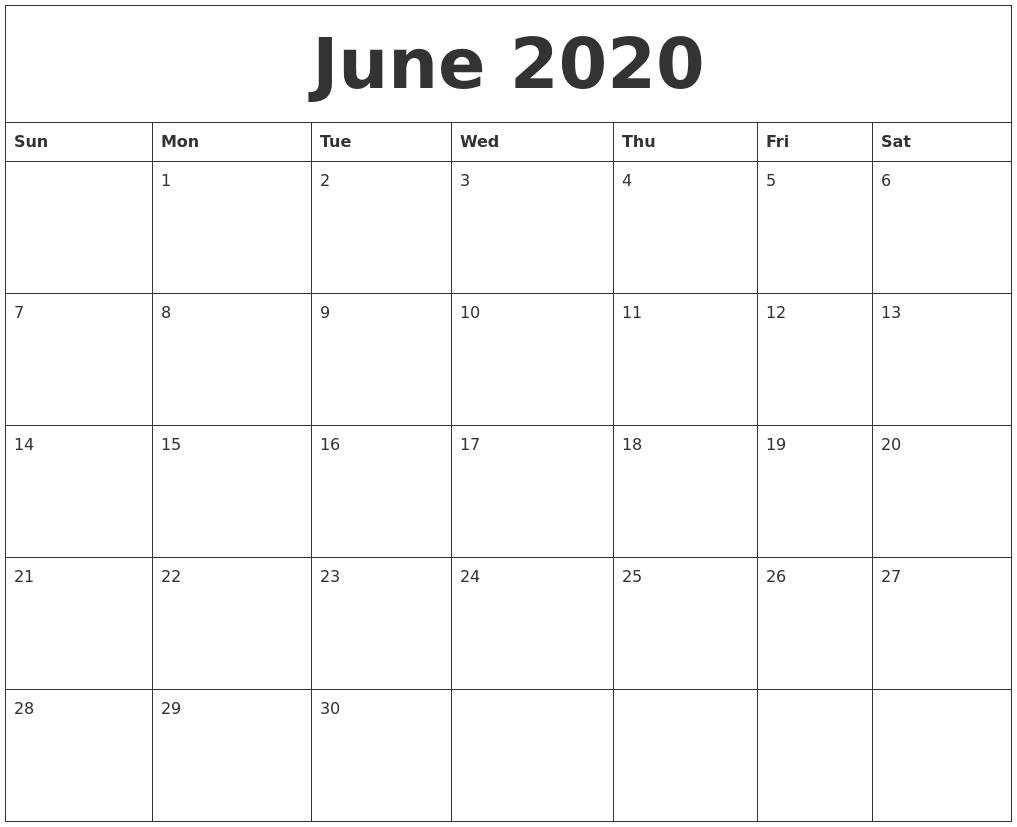 Blank Fill In Calendars 2020 Printable   Calendar Template Free Calendar Template To Populate