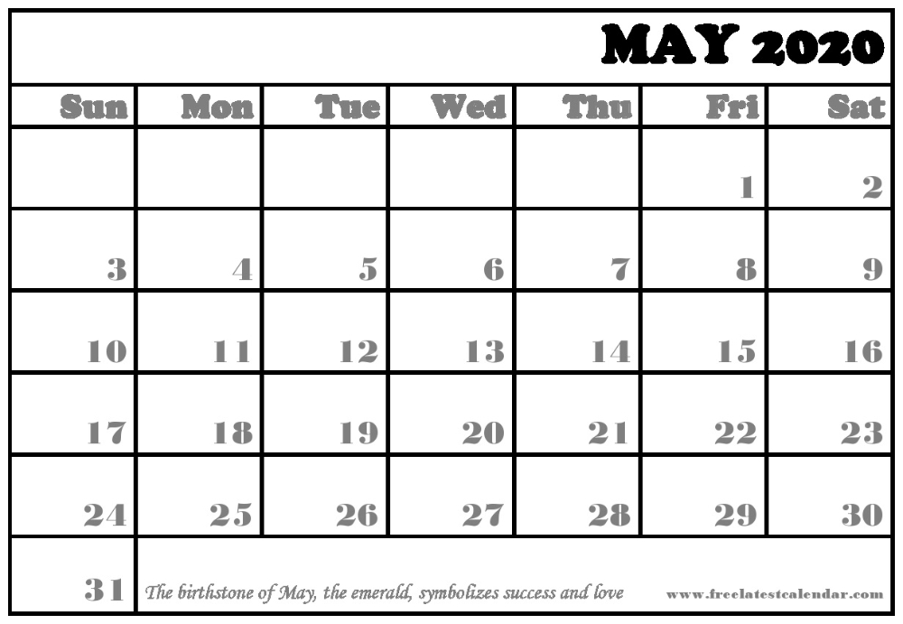 Blank May 2020 Calendar Template In Google For Education Blank Lined Monthly Calendar Template
