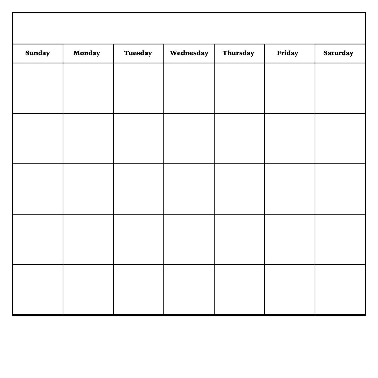 Blank Monday Through Friday Pdf   Calendar Template Printable Blank Free Printable Monday Through Friday
