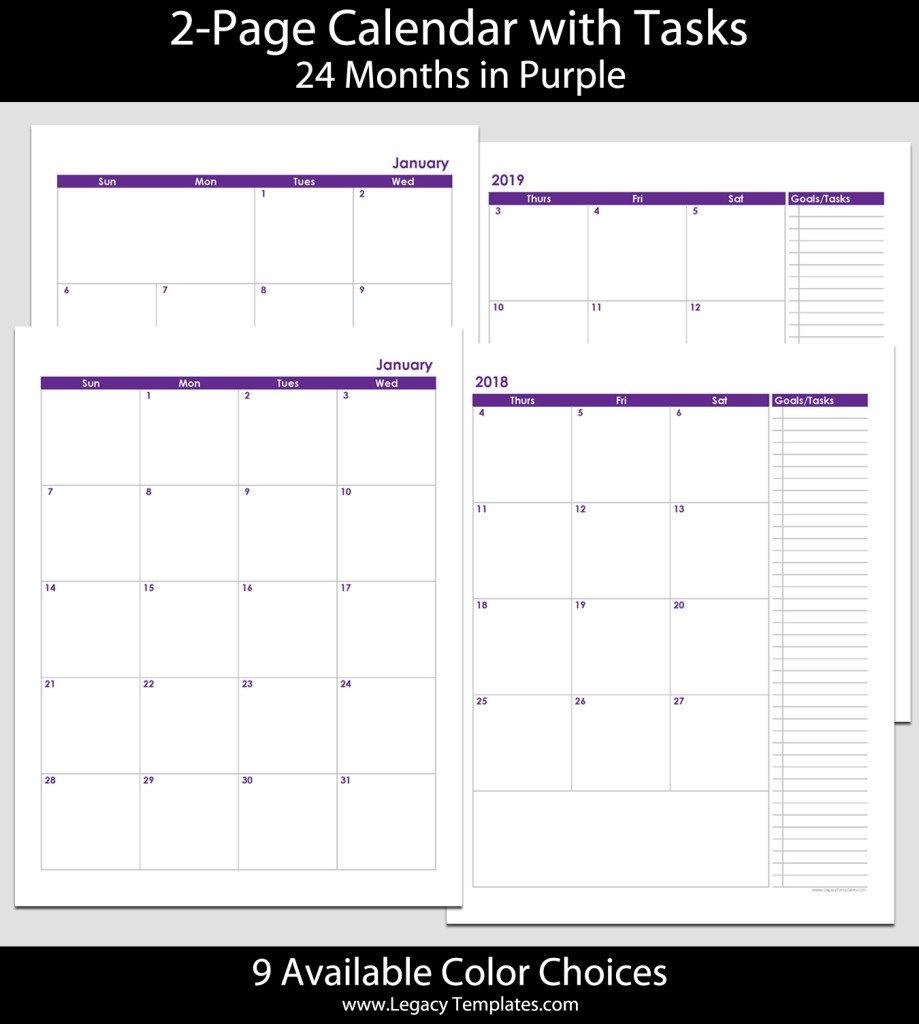 Blank Monthly Calendar Printable 8.5 X 11 | Example Free Printable Calendars 5 1/2 X 8 1/2