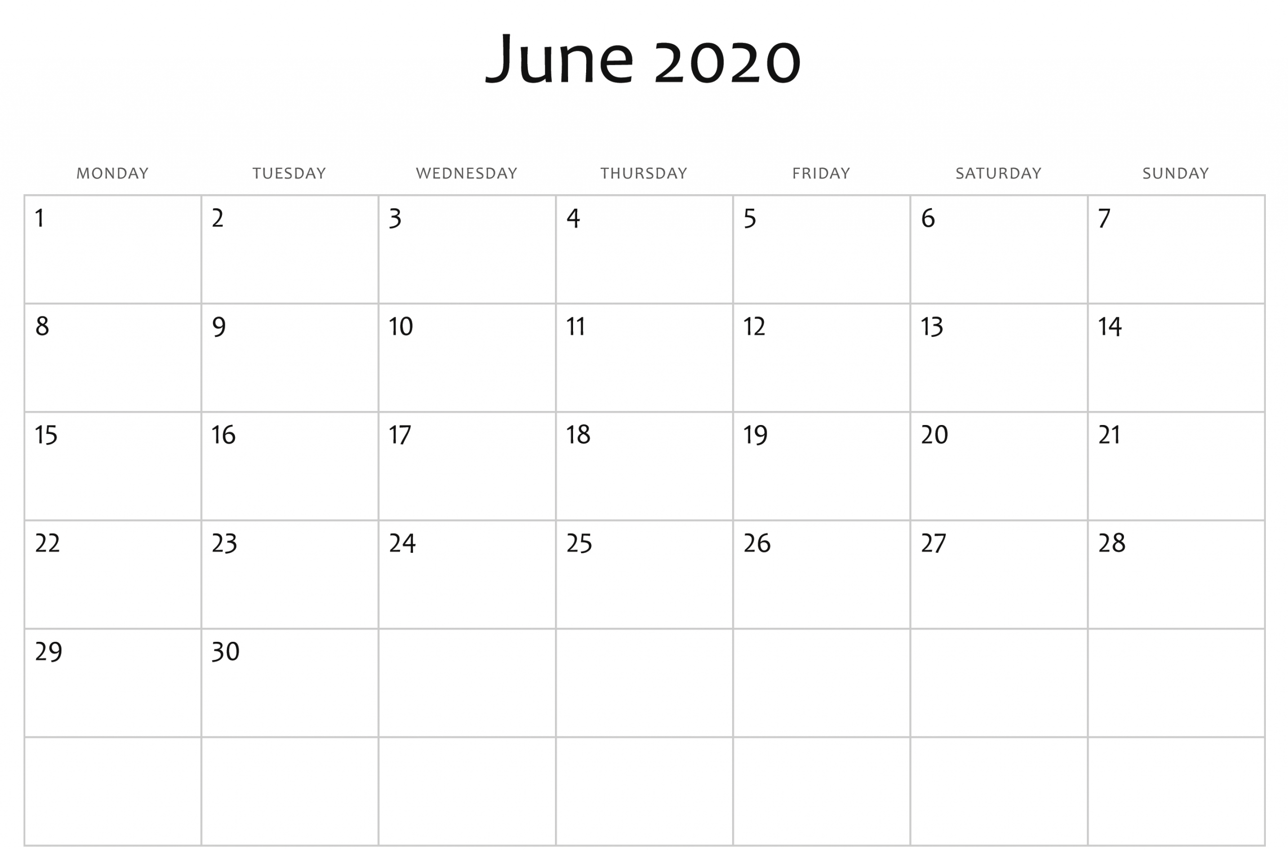 Blank Monthly Calendar Printable Portic 2020 That Can Be Monthly Calendar I Can Edit