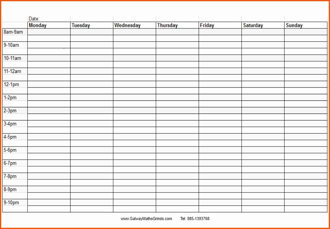 Blank Time And Date Calendar – Calendar Inspiration Design Monthly March Schedule With Time Slots