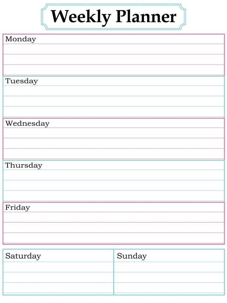 Blank Week Calendar Clipart 20 Free Cliparts   Download One Week Lined Schedule