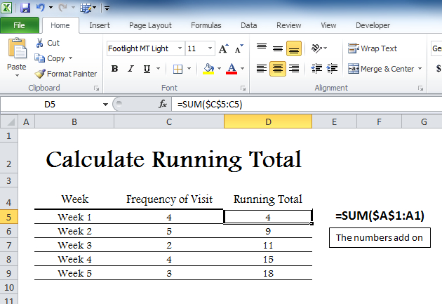 Calculate Running Total – My Excel Templates Printable Timesheet With Running Calendar