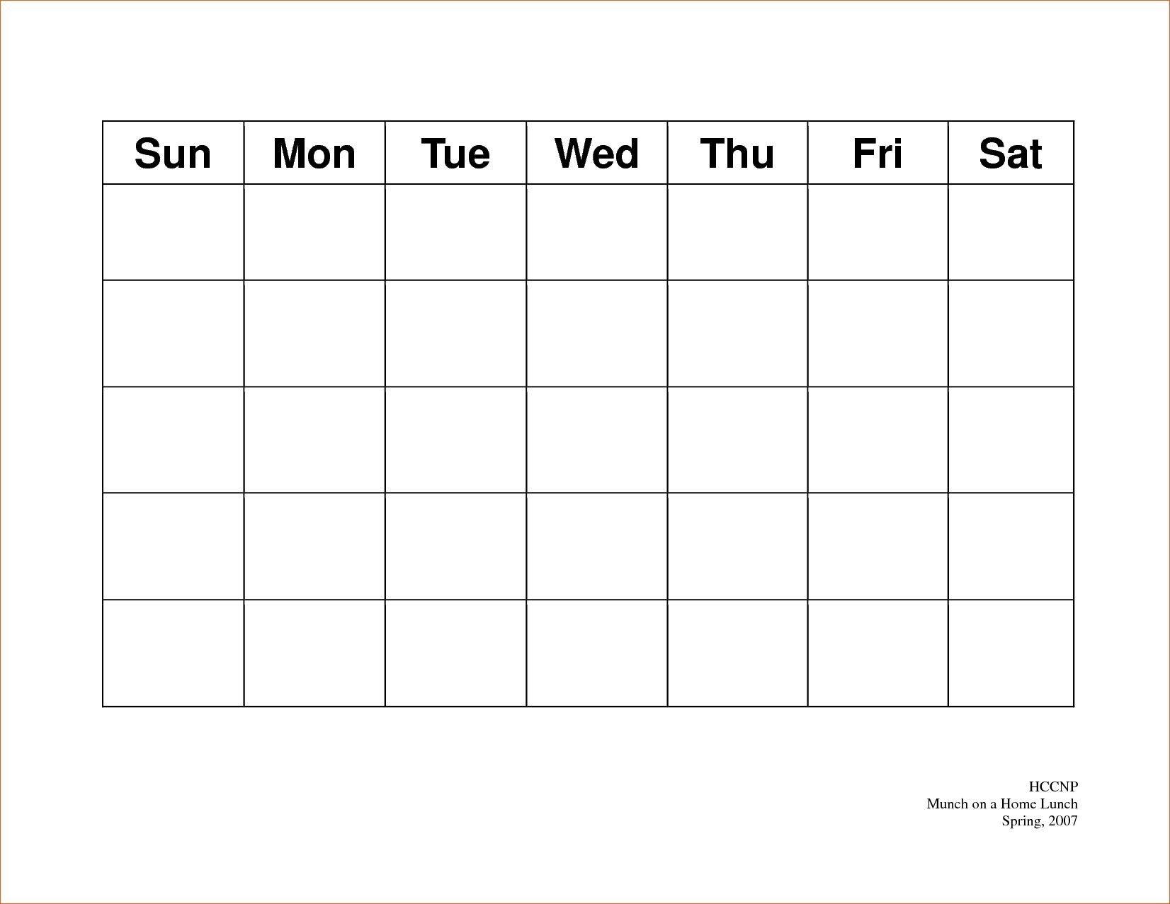 Calendar 5 Day Weekly Calendar Template On 5 Week Calendar Printable Calendar For Every 2 Weeks