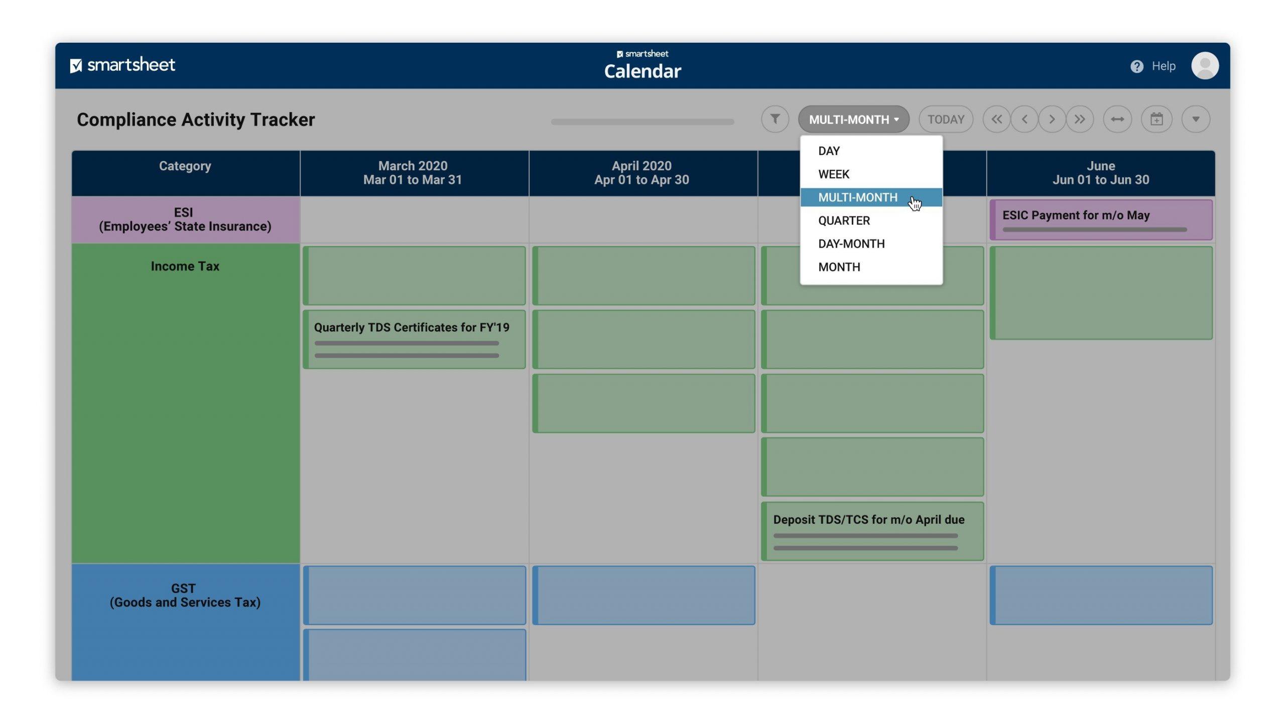 Calendar App   Smartsheet How To Make A Color Coded Calendar Parenting Time