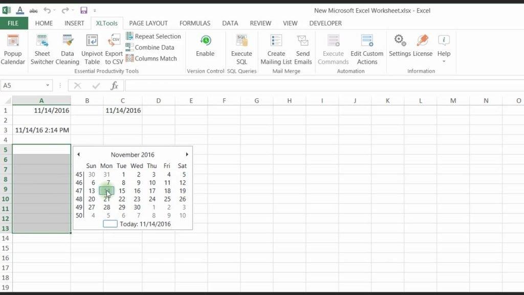 Calendar Drop Down In Excel   Calendar Image 2020 Excel Add Calendar Drop Down Into A Template