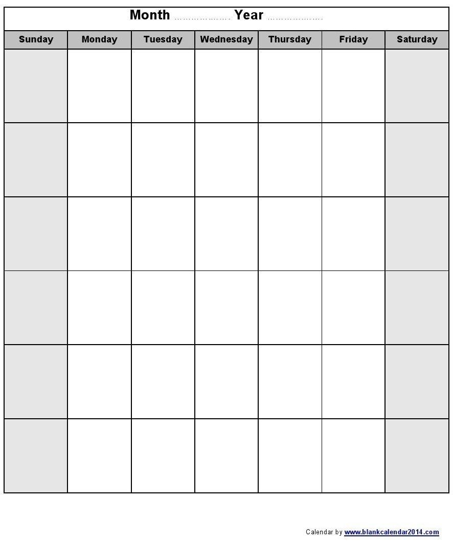 Calendar Monday To Sunday Monthly | Calendar Template Monday To Friday Printable Monthly Calendar