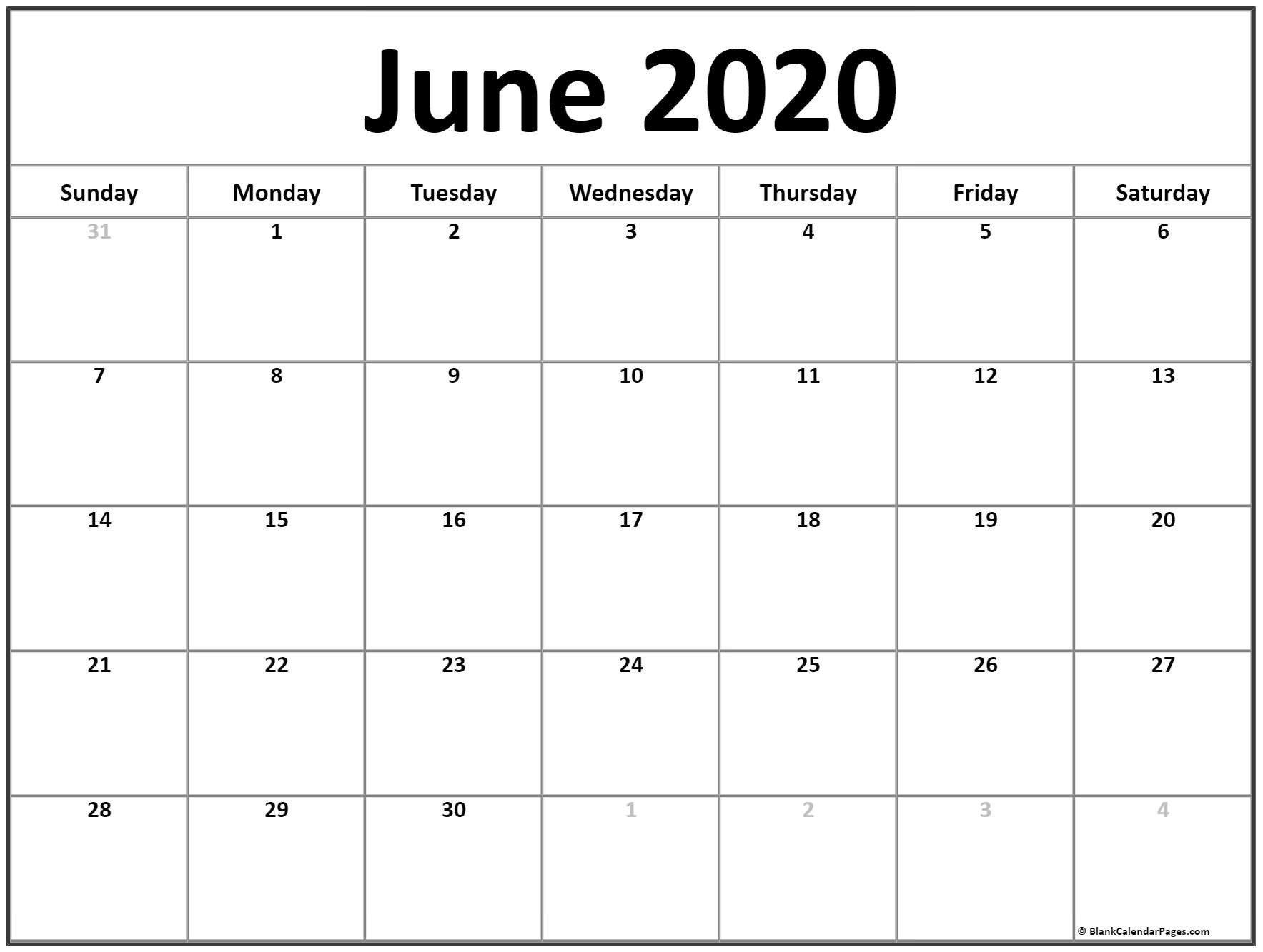 Calendar To Write On 2020 – Template Calendar Design How To Fill June Calendar