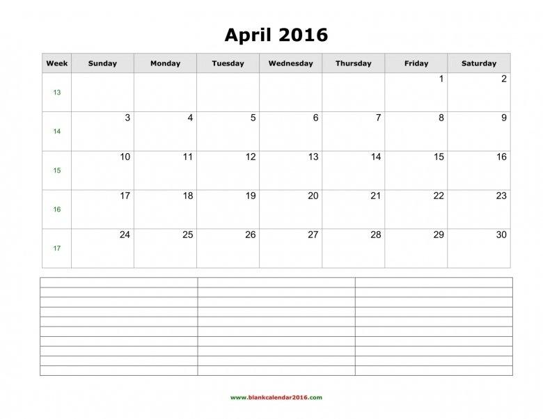 Calendar With Notes Section : Free Calendar Template Calendar Template With Notes Section