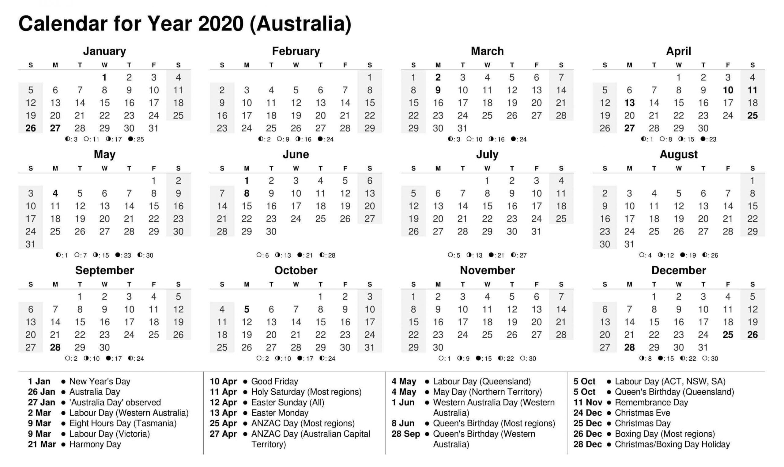 Calendar Year 2020 Holidays Template – 2019 Calendars For Holiday Time Off Calendar Excel