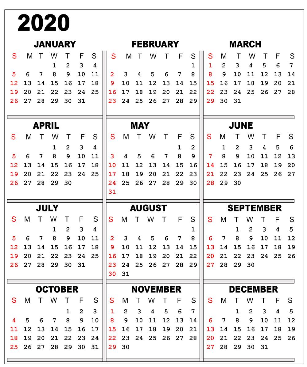 Catch 2020 Free Calendars You Can Edit | Calendar Free Calendar You Can Edit
