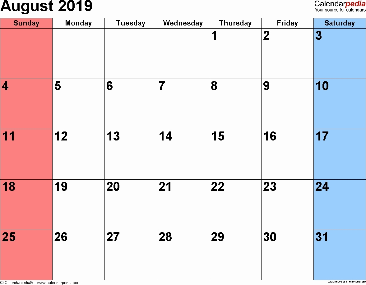 Catch August 2019 Monthly Monday Through Friday Calendar Monthly Mon Friday Calendar