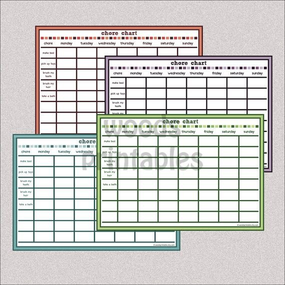 Children'S Chore Chart Pdf Printablewoodsprintables On Download Free Chart For Monday Friday