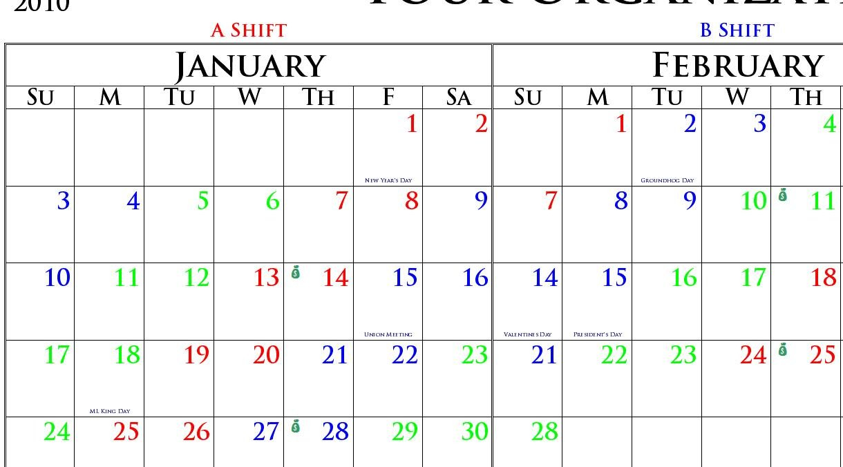 Collect Firefighter Shift Calendar Large | Calendar Firefighter Shift Schedule Tool