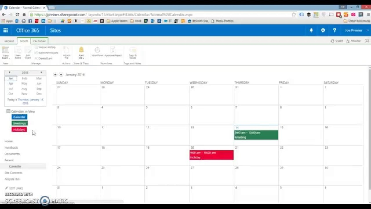 Color Coding Sharepoint 2010, 2013 Or Sharepoint Online Free Color Coded Calendars