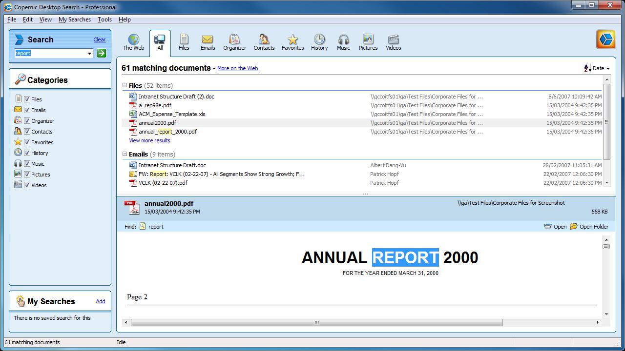 Copernic Desktop Search Professional Screenshot Page Free Wordperfect Calendar Templates