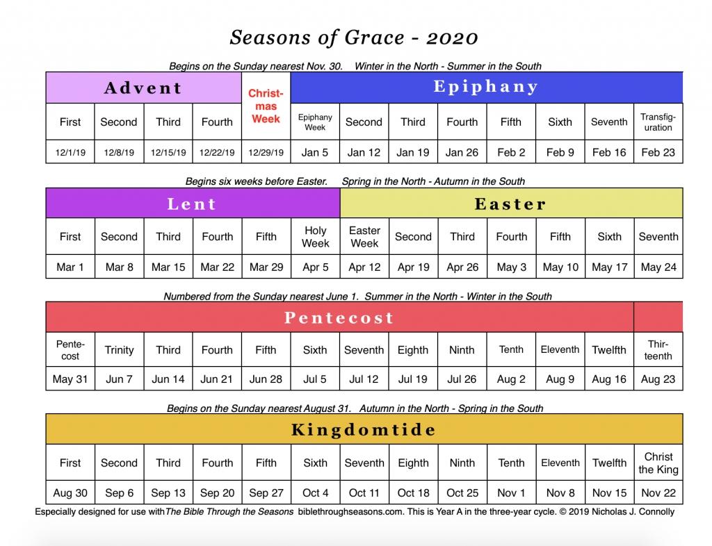 Copy Of The Methodist Church Common Lectionary 2020 United Methodist Liturgical Calendar
