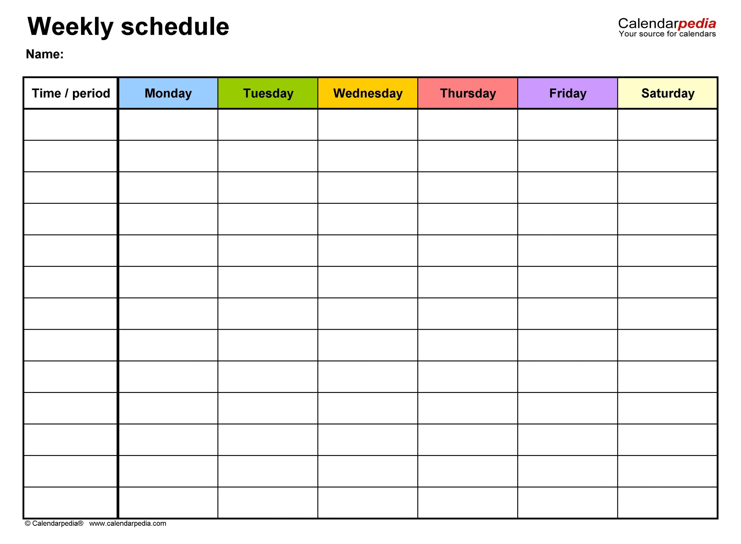 Create Your 5 Year Schedule Excel – Get Your Calendar Excel 5 Year Calendar