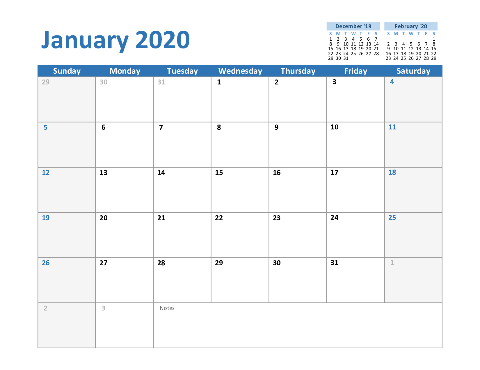 Create Your January 2020 Calendar Printable – Editable Blank Calendars To Fill In Online