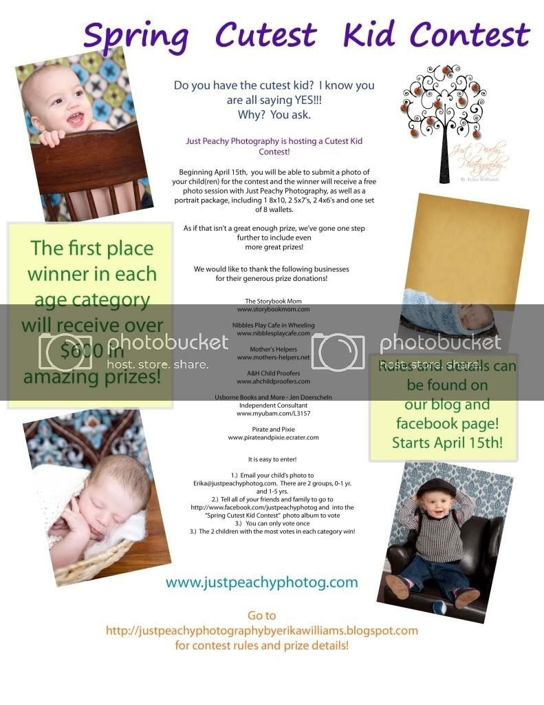 Cutest Kid Contest Flyer – Just Peachy Photography Nw Tempalate For Baby Sweepstake